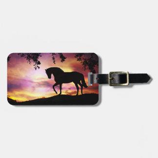 Colourful Horse Luggage Tag
