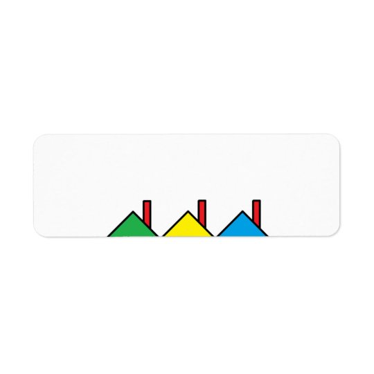"""""""Colourful Houses"""" Address Labels"""