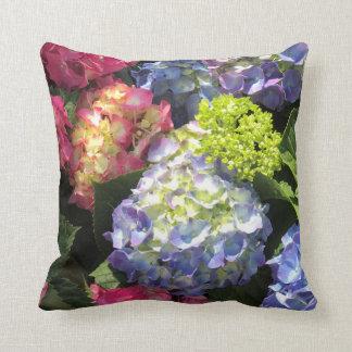 Colourful Hydrangea Flower  Throw Pillow