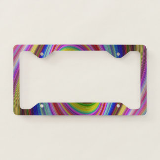 Colourful Hypnosis Licence Plate Frame