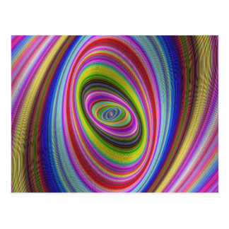 Colourful Hypnosis Postcard