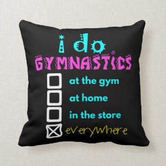 Colourful - I Do Gymnastics Everywhere Throw Pillow