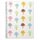 Colourful Ice Cream Cones Notebook