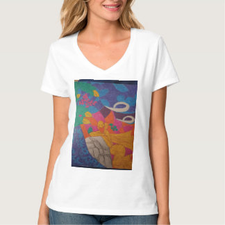 Colourful image over peaceful background T-Shirt