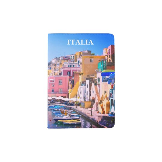 Colourful Italy Fishing Port Passport Holder
