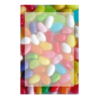 Colourful jelly beans candy stationery paper