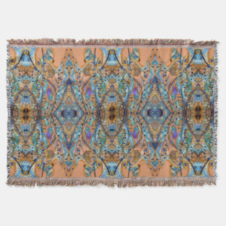 Colourful Jewels of The Sea by Deprise Throw Blanket
