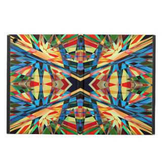 Colourful kaleidoscope circus pattern cover for iPad air
