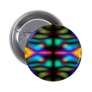 Colourful kaleidoscope pattern 6 cm round badge