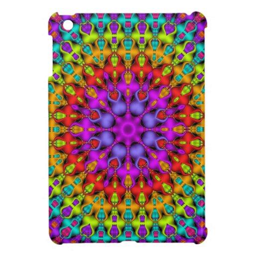 Colourful Kaleidoscope Pattterns iPad Mini Cover