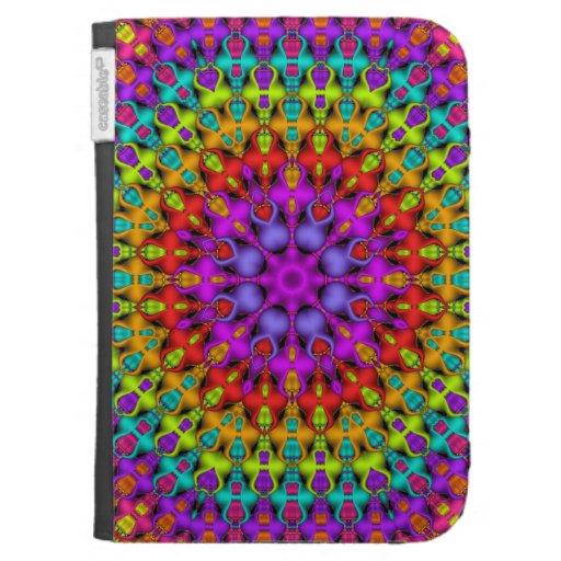 Colourful Kaleidoscope Pattterns Kindle folio case