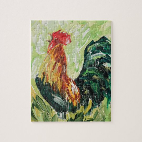 Colourful Keith the RoosterRooster Jigsaw Puzzle