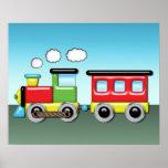 Colourful Kid;s Locomotive & Caboose