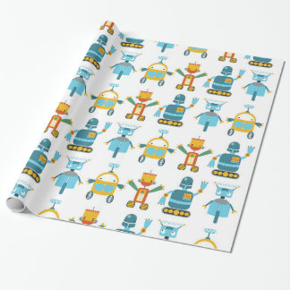 Colourful Kids Robot Wrapping Paper
