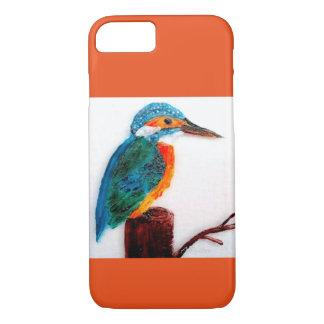 Colourful Kingfisher Art iPhone 7 Case