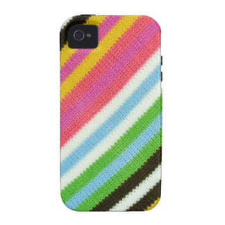 Colourful knitted background iPhone 4/4S cases