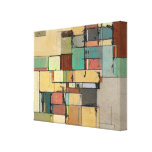 Colourful Lattice Abstract Wrapped Canvas Gallery Wrapped Canvas