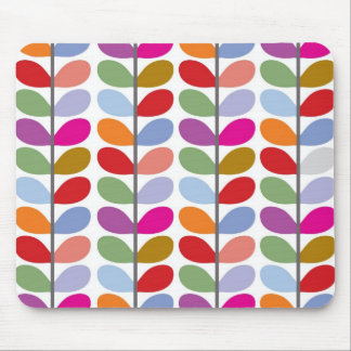 Colourful Leaf Pattern Mouse Pad
