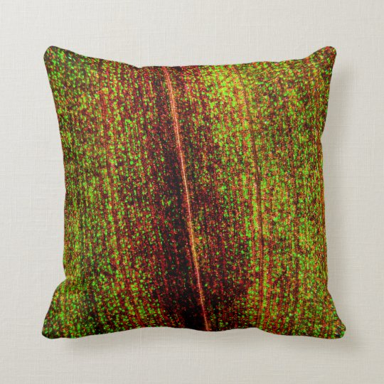 Colourful Leaf Texture Throw Pillow