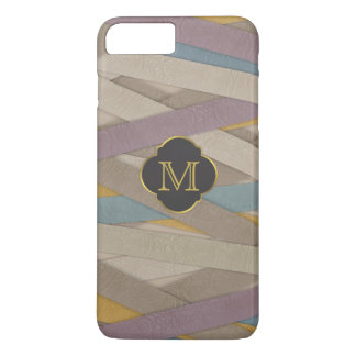 Colourful leather stripes iPhone 7 plus case