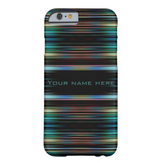Colourful lines on a black background barely there iPhone 6 case