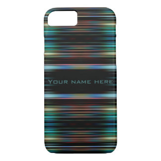 Colourful lines on a black background iPhone 7 case