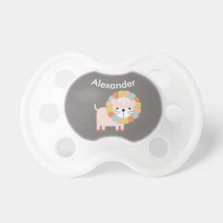 Colourful Lion Personalised Baby Pacifier