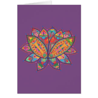 Colourful lotus flower card