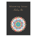 Colourful Lotus Flower  Mandala Healing Arts Pack Of Chubby Business Cards