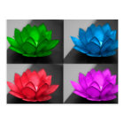 Colourful Lotus Postcard