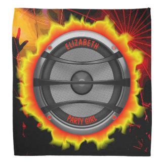 Colourful Loud Music Speaker Dancing Party Bandana