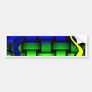 Colourful love net bumper sticker
