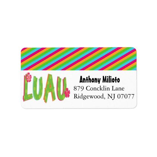 Colourful Luau Label/ Sticker