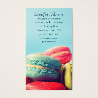 Colourful Macarons Cookies Business Card