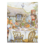 Colourful Mad Hatter's Tea Party Postcard