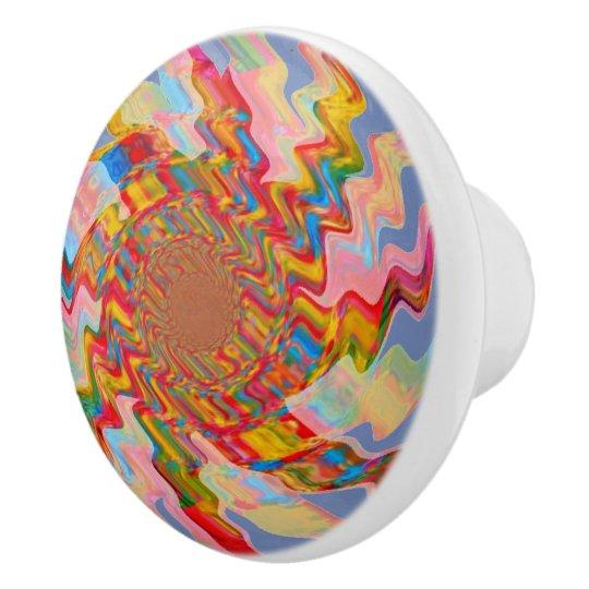 Colourful Magic Star Ceramic Knob