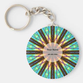 Colourful Mandala Key Ring