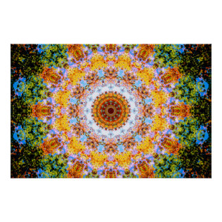 Colourful Mandala Vibes Poster