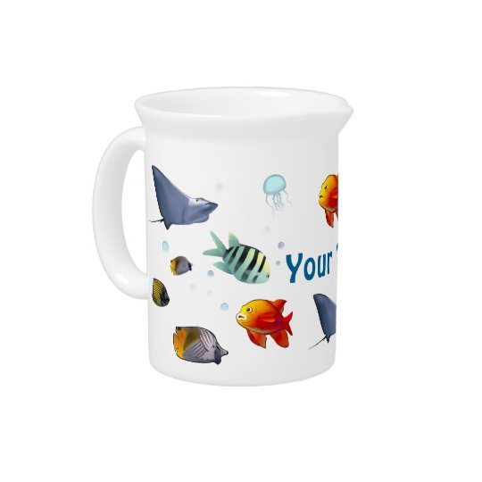 Colourful Marine Creatures Pitcher
