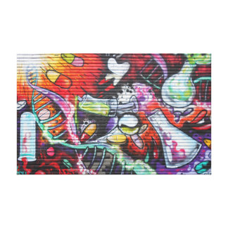 Colourful Medical Theme Graffiti Canvas Print
