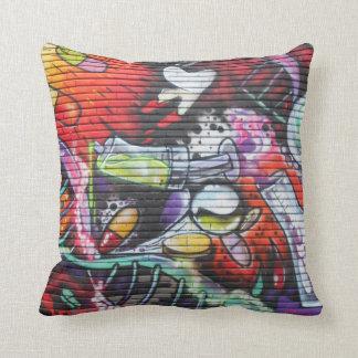 Colourful Medical Theme Graffiti Cushion