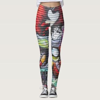 Colourful Medical Theme Graffiti Leggings