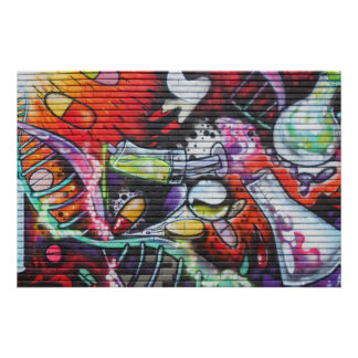 Colourful Medical Theme Graffiti Poster