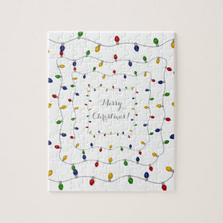Colourful Merry Christmas Lights Puzzles