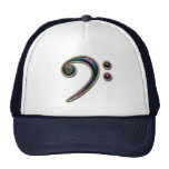 Colourful Metallic Bass Clef Music Hat