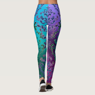 Colourful Metallic Lace Leggings