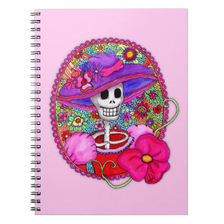 Colourful Mexican Catrina notebook