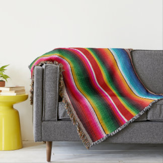 Colourful Mexican style,ethnic style Throw Blanket
