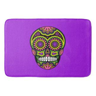 Colourful Mexican Sugar Skull Day Of The Dead Bath Mat