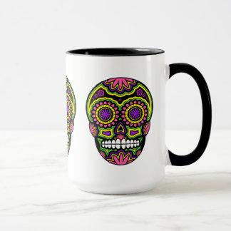 Colourful Mexican Sugar Skull Day Of The Dead Mug